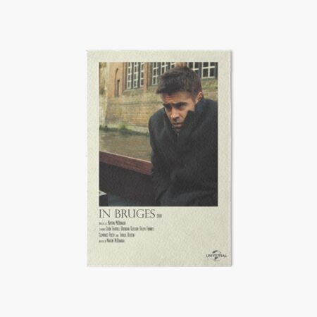 In Bruges Polaroid Film Poster Art Board Print