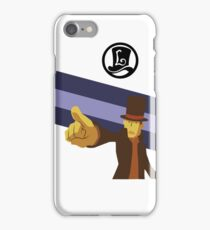 Professor Layton Pointing! iPhone Case/Skin