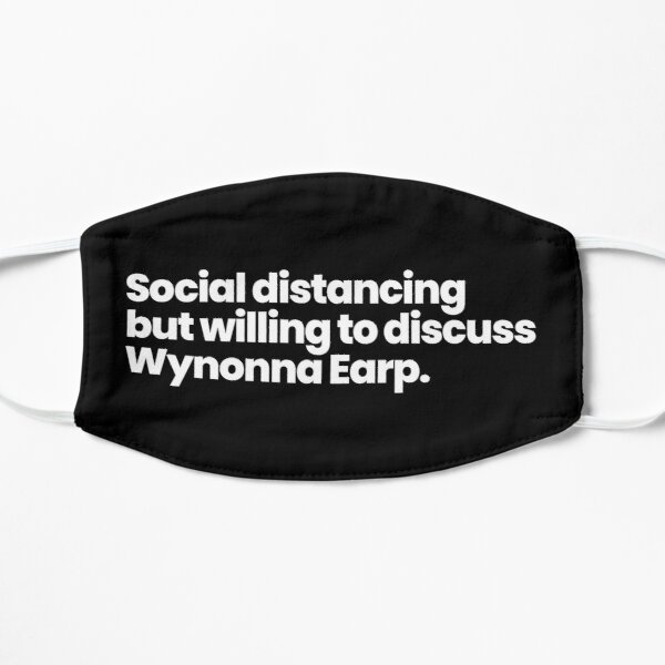 Social distancing but willing to discuss Wynonna Earp Mask