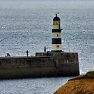Seaham Harbour Light by Trevor Kersley