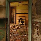 Interior of derelict house - Ballygalley. by Fred Taylor