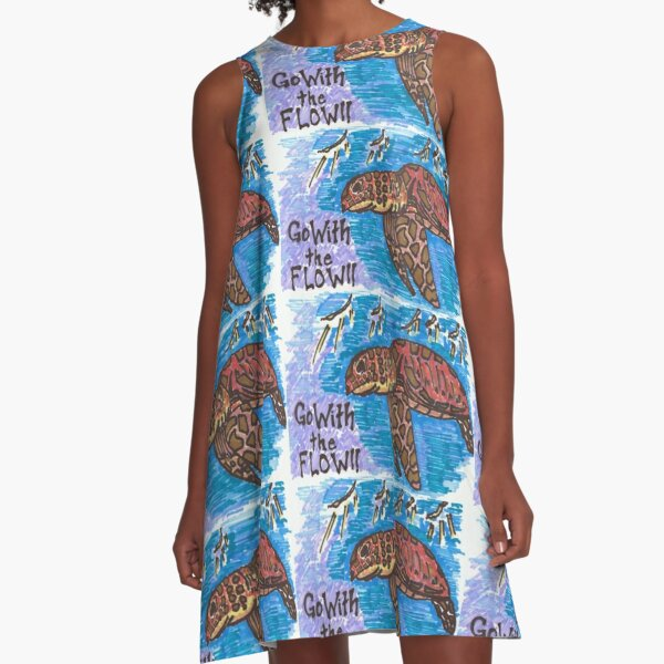 go with the flow A-Line Dress