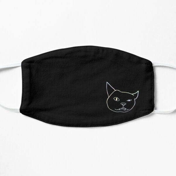 Cat silly face pattern Mask