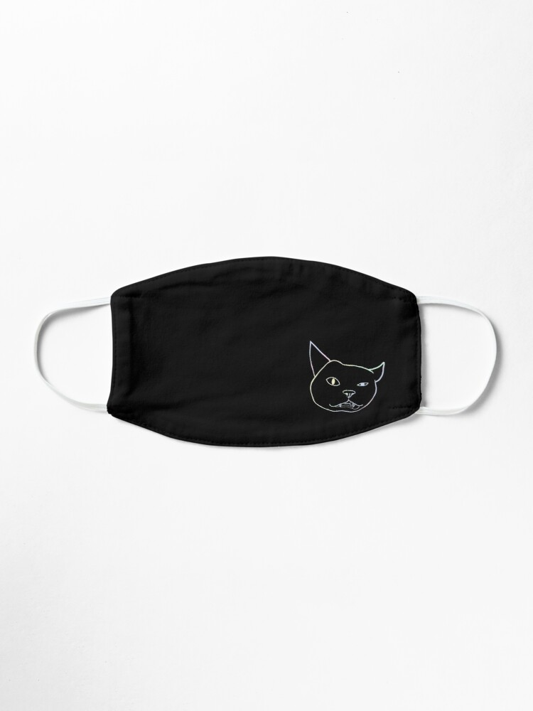 Alternate view of Cat silly face pattern Mask