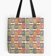 Assorted Police Boxes Tote Bag