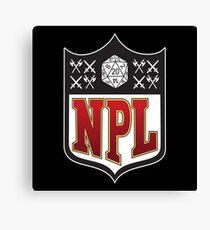 Nerd Poker League Canvas Print