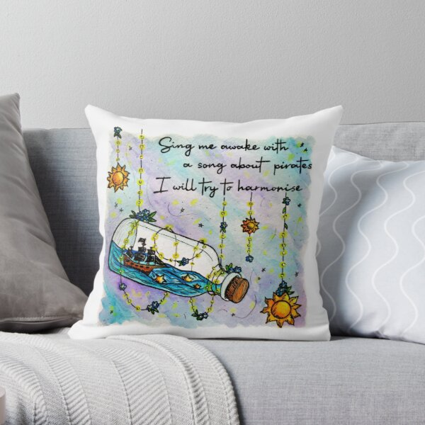 Not Yet     Suns & Pirate Ships     Inspired by The Amazing Devil Throw Pillow