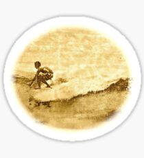 Sepia Surfer Sticker