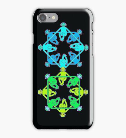 Shape Monkeys - Square iPhone Case/Skin