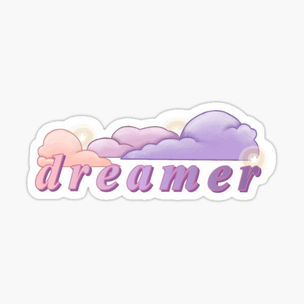 """Aesthetic, Ethereal """"dreamer"""" Design Sticker"""