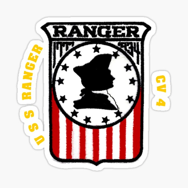 Sticker Military USN U S Navy USS RANGER CVA 61 Oval Decal