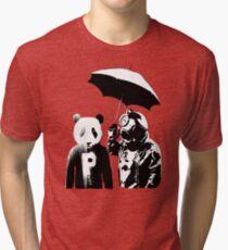 saving panda Tri-blend T-Shirt
