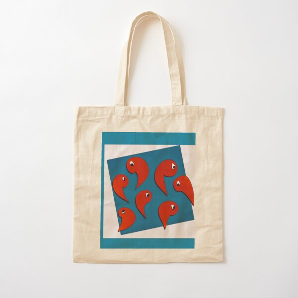 Red white and blue shrimp  Cotton Tote Bag