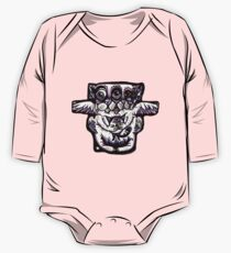 Purple Cat Long Sleeve Baby One-Piece