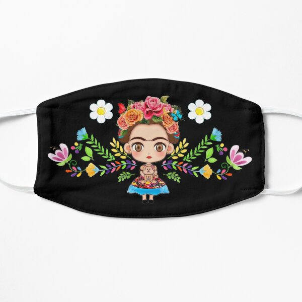 Frida Kahlo Mask - Cute Frida Face Mask  Flat Mask