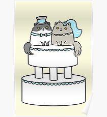 Kitty Cat Wedding Poster