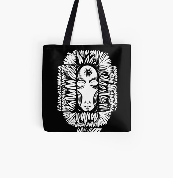 Night Flower All Over Print Tote Bag