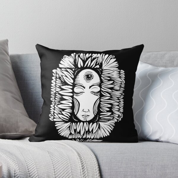 Night Flower Throw Pillow