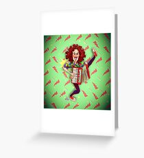 Alfred (Weird Al) Yankovic and Harvey the Wonder Hamster Greeting Card