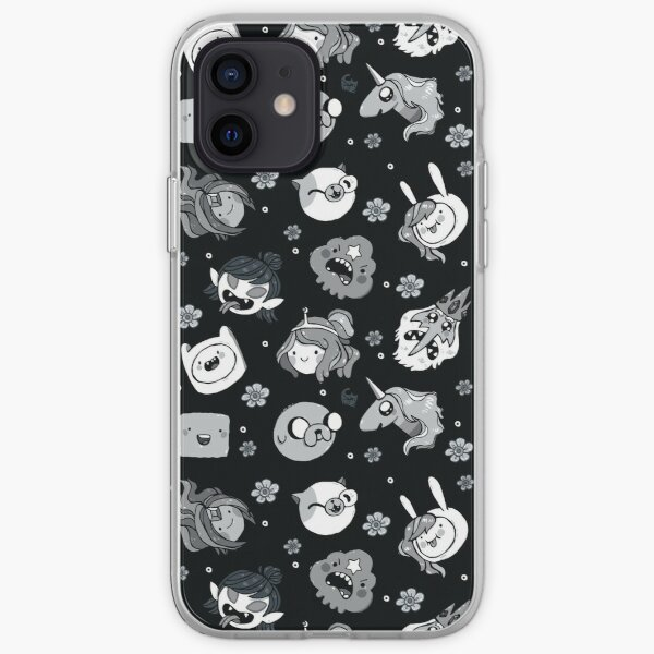 Adventure Time Friends Black and White Greyscale iPhone Soft Case