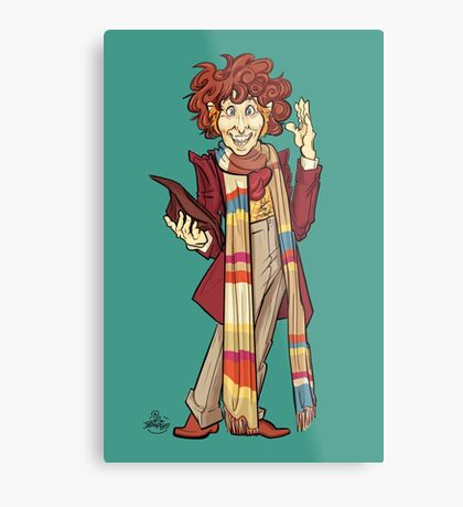 The Fourth Doctor [Who] Metal Print