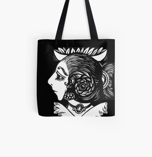 Toad Lady All Over Print Tote Bag