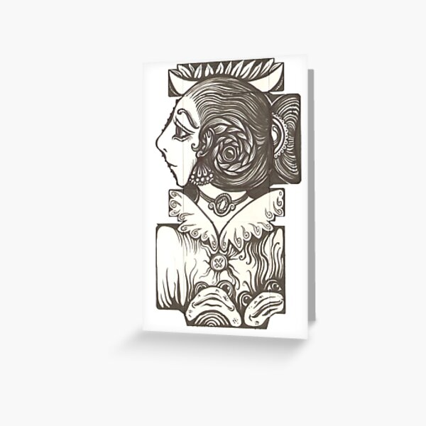 Toad Lady Greeting Card