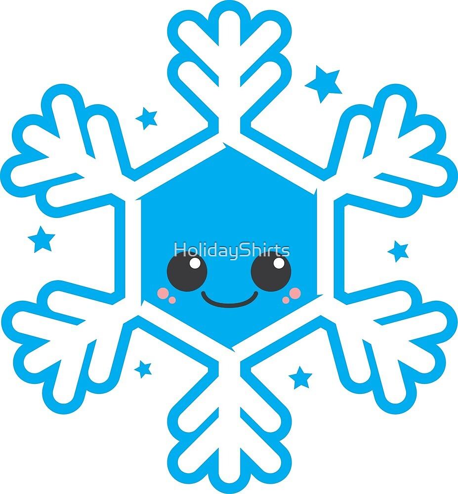 Kawaii Winter Snowflake by HolidayShirts