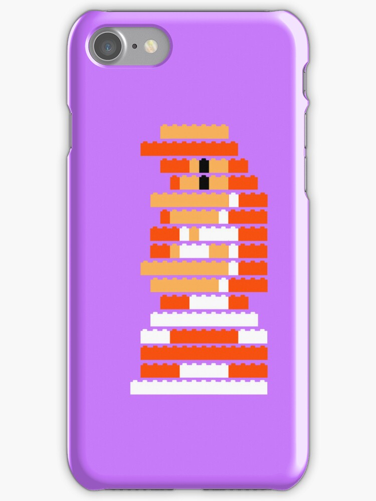8-Bit Brick Peach by McLovely
