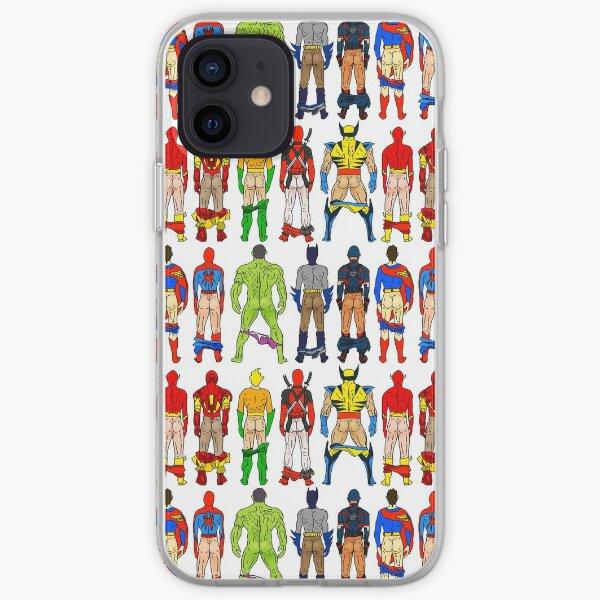 Superhero Butts iPhone Soft Case