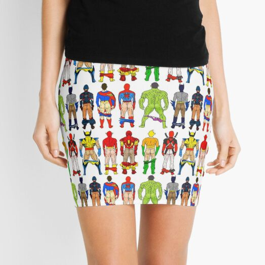 Superhero Butts Mini Skirt