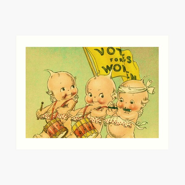 Kewpie Votes For Women Suffrage Art Art Print