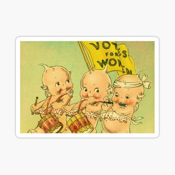 Kewpie Votes For Women Suffrage Art Sticker