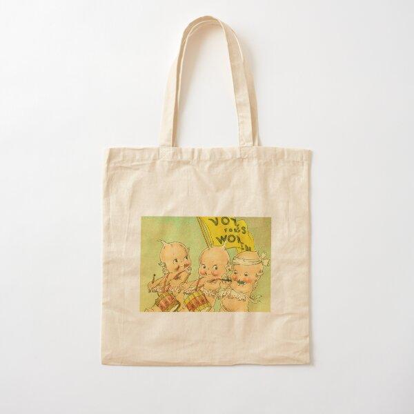Kewpie Votes For Women Suffrage Art Cotton Tote Bag