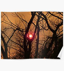 Sunset through smoke  Poster