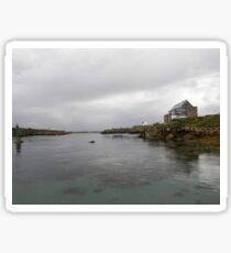 Blue Boat - Rutland Island - Donegal -  Ireland Sticker