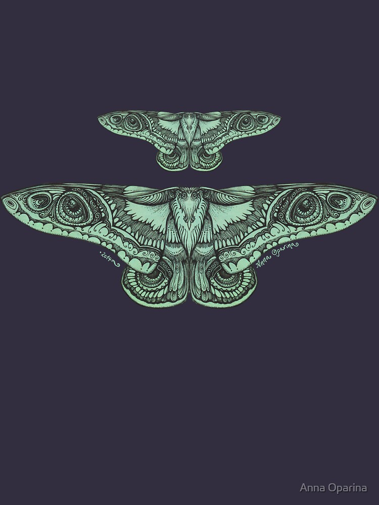 Green Moths by Oparina