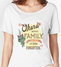 Ohana - Lilo and Stitch Quote Women's Relaxed Fit T-Shirt