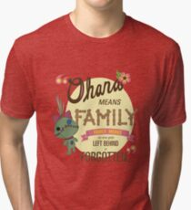 Ohana - Lilo and Stitch Quote Tri-blend T-Shirt