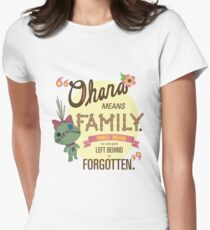Ohana - Lilo and Stitch Quote Women's Fitted T-Shirt