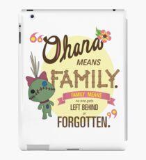 Ohana - Lilo and Stitch Quote iPad Case/Skin