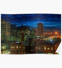 Regina City Night Lights Poster