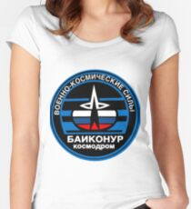 Baikonur Cosmodrome Logo Women's Fitted Scoop T-Shirt
