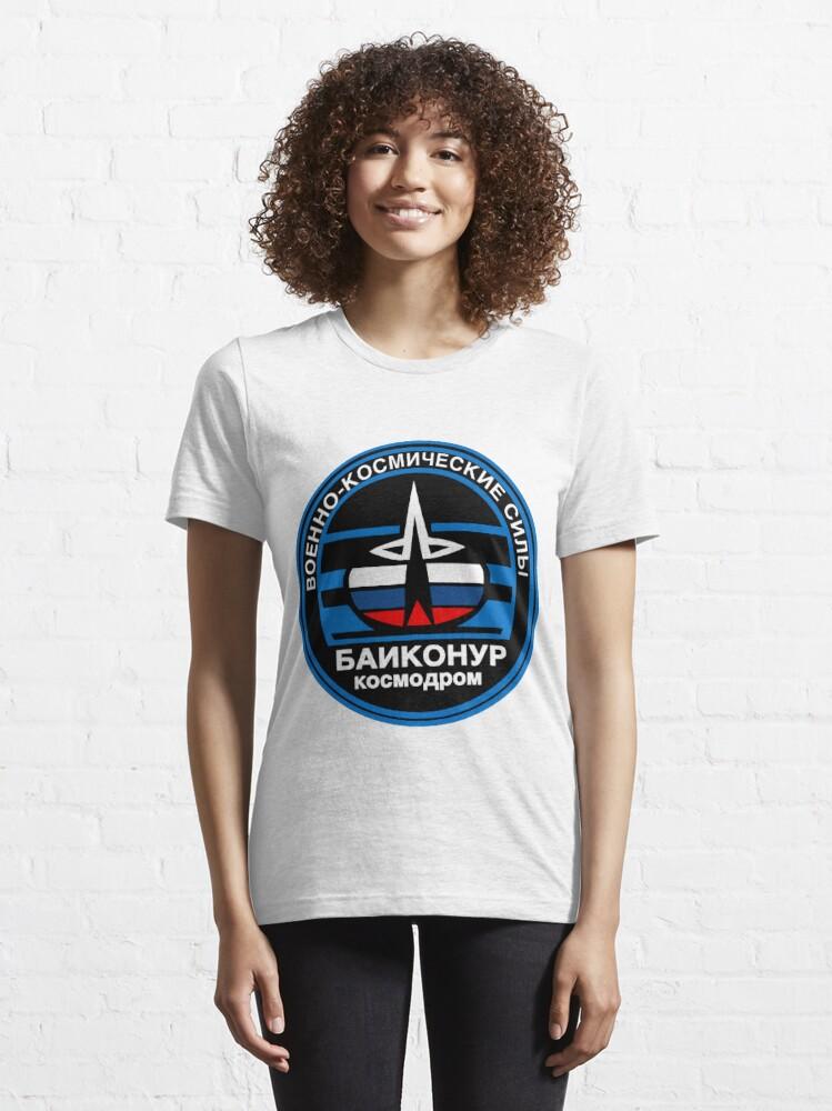 Alternate view of Baikonur Cosmodrome Logo Essential T-Shirt