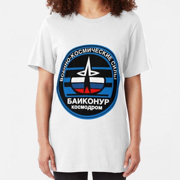 Baikonur Cosmodrome Logo Slim Fit T-Shirt