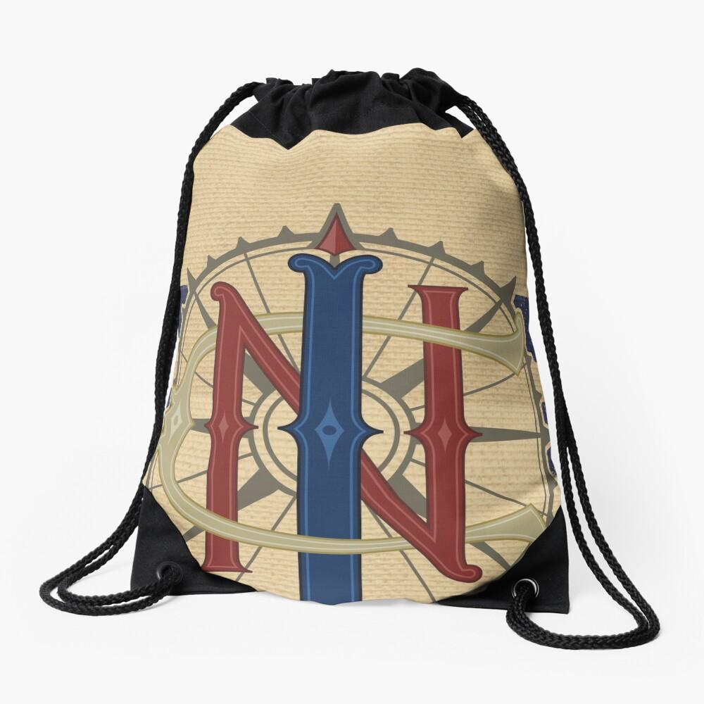Jungle Navigation Company Blue Stripes Drawstring Bag