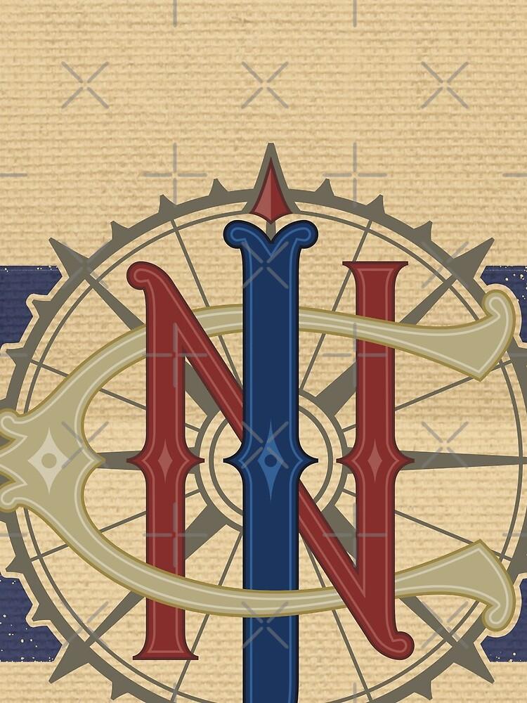 Jungle Navigation Company Blue Stripes by Pop-Tacular