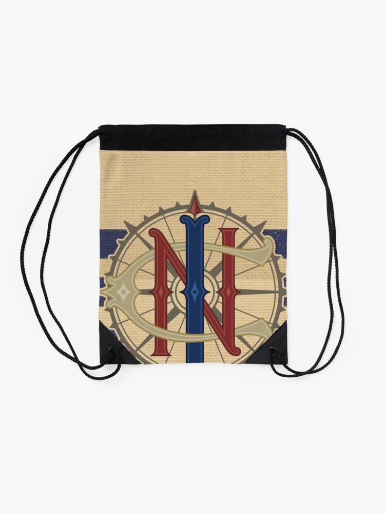Alternate view of Jungle Navigation Company Blue Stripes Drawstring Bag