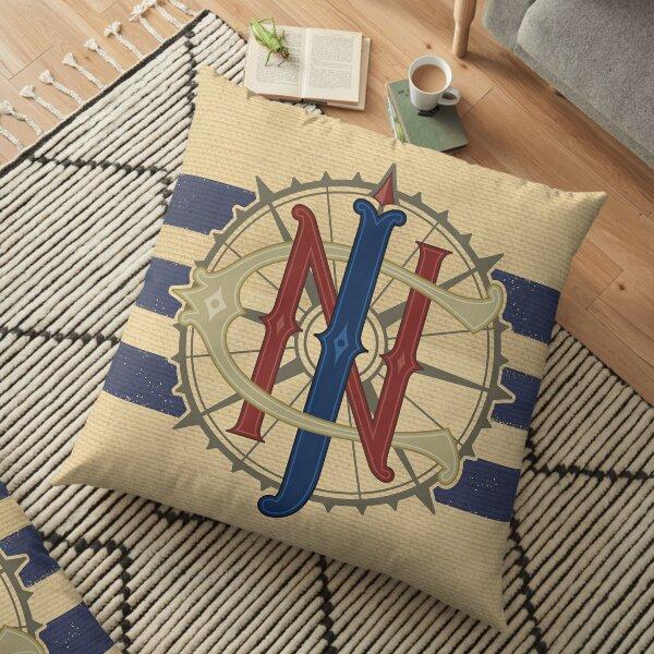 Jungle Navigation Company Blue Stripes Floor Pillow