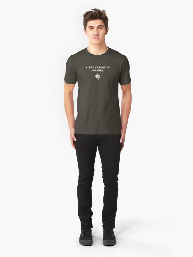 Alternate view of I left Kaidan on Virmire Slim Fit T-Shirt